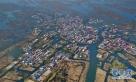 这是雄安新区安新县白洋淀淀区内的村庄(4月2日摄)。