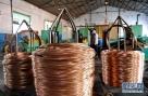 这是雄安新区雄县一电缆厂的工人在生产车间工作(4月6日摄)。